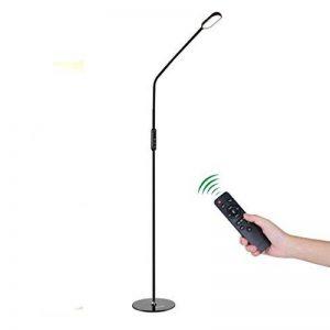 ICOCO lampadaire dimmable LED contrôlée à distance, lampadaire de salon lampe lieuse plastique et métal avec 5 niveau de luminance, bras réglable, 50000 heures durées pour lecture, 174cm de la marque ICOCO image 0 produit