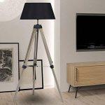 IDMarket - Lampadaire trepied bois foncé réglable noir de la marque IDMarket image 2 produit