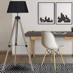 IDMarket - Lampadaire trepied bois foncé réglable noir de la marque IDMarket image 3 produit