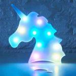 ILOVEDIY Marquee 10Led Lampe Licorne Veilleuse Chevet 3D Lumière d'ambiance pour Enfant Chambre Décoration (Multicolor) de la marque ILOVEDIY image 3 produit