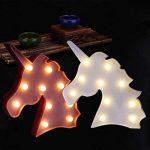 ILOVEDIY Marquee 10Led Lampe Licorne Veilleuse Chevet 3D Lumière d'ambiance pour Enfant Chambre Décoration (Rose) de la marque ILOVEDIY image 4 produit