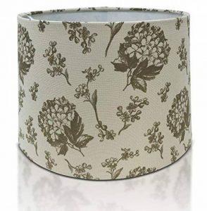 Imprimé floral Tissu Lin Abat-jour lampe double usage Pendentif Abat-jour Beige Couleur de la marque Home Decor image 0 produit