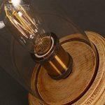 injuicy E27Edison Retro Industriel Verre Cuivre lampes de bureau Base de bois vendange Lampe de table de verre écran de chevet de lumière du bureau pour chambre salon d'être de la marque INJUICY image 4 produit