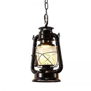 INJUICY Industrielle Vintage Retro E27 Led Edison Métal Lanterne Lampe Suspensions Lustre Plafonniers en Verre Kérosène Eclairage de Plafond pour Chevet Cuisine Salle à manger Salon Chambre Restaurant (Cuivre) de la marque INJUICY image 0 produit