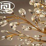 INJUICY Retro E14 Cristal Bougie Branches D'arbre Lampe Suspensions Lustre Plafonniers en Métal Antique Fer Forgé Eclairage de Plafond pour Salle à Manger Chambre (Bronze & Diamètre: 780mm) de la marque INJUICY image 4 produit