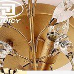 INJUICY Retro E14 Cristal Bougie Branches D'arbre Lampe Suspensions Lustre Plafonniers en Métal Antique Fer Forgé Eclairage de Plafond pour Salle à Manger Chambre (Bronze & Diamètre: 780mm) de la marque INJUICY image 3 produit