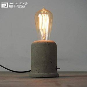 Injuicy Rétro Edison Vintage Industriel Socle en Bois Métal Lampes de Table Antique Fer Forgé Conduite D'eau Steampunk Lampe de Bureau Lampe à Poser pour Chevet Café Salon Chambre Lampe de Nuit (#B) (Ciment) de la marque Injuicy image 0 produit