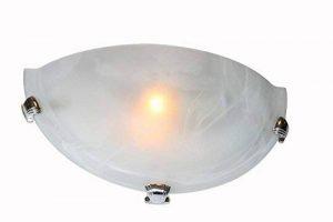 interfan Applique murale en forme de demi-lune Murano E27, White Opal de la marque Interfan image 0 produit