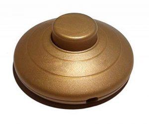 Interrupteur à pied rond doré 250V CE Interrupteur à pédale pour sur pied et de table Leuchten Interrupteur intermédiaire de la marque Christoph Palme Kristall image 0 produit