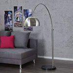 Invicta Interior stylische Lounge Deal Lampe en Arc télescopique en Chrome avec Pied en marbre 170–210cm de la marque Invicta Interior image 2 produit