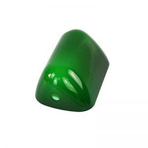 Jade vert verre banquiers lumineux couvercle de la lampe Banquiers Lampe En Verre Ombre Tubé Remplacement abat-jour taille L15 cm W9.5 cm de la marque Newrays image 0 produit