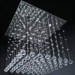 Jago - Plafonnier Carré Lustre en Cristal Désign Élégant 50 x 50 cm (Taille au Choix) de la marque Jago image 1 produit