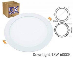 Jandei–5lampes LED rondes à encastrer downlight 18W 6000K Lumière blanche de la marque Jandei image 0 produit