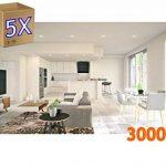 jandei–5x downlight lED 18W 3000K rond encastrable blanc de la marque Jandei image 1 produit