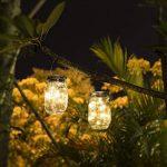 JDXS Mason lid-001 Jar Light Lanterne solaire en verre 20Leds Suspension Suspension Outdoor Balcon Lampe de Table pour Extérieur Décoration pour Maison Fête Mariage (Blanc Chaud de la marque JDXS image 3 produit