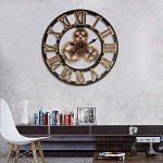 Jeteven 3D 60cm Horloge Pendule Murale en Bois Vintage Rétro Européenne Roue Dentée Or de la marque Jeteven image 1 produit