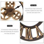 Jeteven 3D 60cm Horloge Pendule Murale en Bois Vintage Rétro Européenne Roue Dentée Or de la marque Jeteven image 3 produit