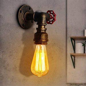 Jeteven Applique Murale Tuyau Vintage Style Steampunk Industriel Rétro Base de Lampe E27 60W (sans Ampoule) Bronze de la marque Jeteven image 0 produit