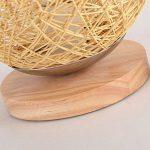 JIAHONG Creative round Hemp ball lampe de table LED, tissé à la main naturelle rotin artisanat de haute qualité éclairage de chevet lampe de table décorative ( Size : 22cm ) de la marque AILI image 3 produit