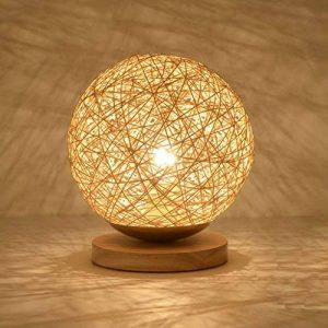 JIAHONG Creative round Hemp ball lampe de table LED, tissé à la main naturelle rotin artisanat de haute qualité éclairage de chevet lampe de table décorative ( Size : 22cm ) de la marque AILI image 0 produit