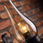 JiaYouJia Lampe applique murale rustique vintage en verre et métal Lumière d'ambiance Lampe de décoration pour chambre, studio, maison de la marque JiaYouJia image 2 produit