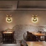 JiaYouJia LED Applique Lampe de Mur Murale Innovative Air Cerf Aluminium en Laiton Décoration pr Salon Restaurant Passage Créative de la marque JiaYouJia image 1 produit
