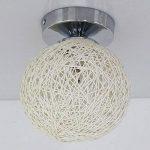 JiaYouJia Mini Lampe de Plafond Plafonnier Abat-jour Globe en Vigne Décoration pour Passage Couloir Balcon Chrome Moderne Beige de la marque JiaYouJia image 4 produit