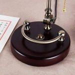 JILAN HOME- Lampe de table de bureau Antique Banker Antique avec abat-jour en verre vert et base en bois massif E27 de la marque Table lamp image 4 produit