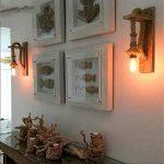JLXMZX American retro mur lampe créative salon chambre escalier allée applique murale jardin solide chanvre bois corde applique murale E27 * 1 (y compris la lumière) 18 * 37 (CM) de la marque JLXMZX image 1 produit