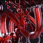 Joeyhome Lustre moderne en cristal de Murano rouge à l'intérieur d'éclairage pour salle à manger,salon 10 restaurant arms de la marque Joeyhome image 2 produit