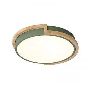 Joeyhome Moderne bref rond lampes en métal avec caoutchouc bois acrylique abat-jour matériau coloré plafonniers plafonnier LED, vert, Dia 33cm blanc chaud de la marque Joeyhome image 0 produit