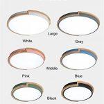 Joeyhome Moderne bref rond plafonniers en métal avec caoutchouc bois acrylique abat-jour matériau coloré plafonniers plafonnier LED, noir, Dia 33cm blanc froid de la marque Joeyhome image 3 produit
