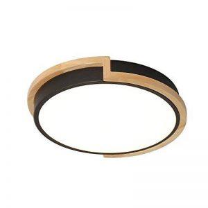 Joeyhome Moderne bref rond plafonniers en métal avec caoutchouc bois acrylique abat-jour matériau coloré plafonniers plafonnier LED, noir, Dia 33cm blanc froid de la marque Joeyhome image 0 produit