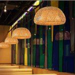 Joeyhome Travail du bambou moderne lampe de table en bambou tricoté main bon prix Suspension avec bambou nuances pour manger,le câble blanc de la marque Joeyhome image 2 produit
