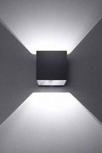 K-Bright 12W Lampe murale contemporaine en aluminium noir avec design d'angle de faisceau étanche IP 65 applique murale d'extérieur pour chambre à coucher, salon, cuisine, couloir, chemin et escalier Blanc froid de la marque K-Bright image 0 produit