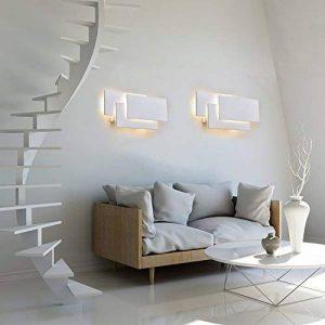 K-Bright Applique murale,12W lampe murale,Eclairage mural mural étanche IP20,AC 85-265V Design moderne chambre élégante, salon, applique murale couloir,10,2x4,9x2,2 pouces,3000K blanc chaud, blanc de la marque K-Bright image 0 produit