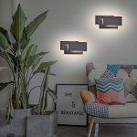 K-Bright Applique Murale à l'intérieur,12W éclairage mural de chambre,lampe de conception moderne en Aluminium,10,2x4,9x2,2,Design moderne élégant applique LED 3000K blanc chaud,Noir de la marque K-Bright image 4 produit