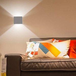 K-Bright Applique murale à LED, design haut et bas, applique murale d'extérieur étanche IP65, blanc 6100K-6500K, coque en aluminium gris de la marque K-Bright image 0 produit