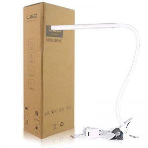 Kashine Clip Light Desk lamps livre de lecture de chevet lumières intensité variable à clipser lumière/lampe de lecture/Eye Care LED Lampe à pince 3modes d'éclairage rechargeable USB lampe de bureau pour tête de lit ordinateurs Bureau de la marque Kashin image 0 produit
