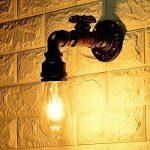 KAWELL Créatif Vintage Applique murale Conduite D'eau Lampe murale Industriel Rétro Lampe de Mur Fer Métal E27 60 W Max pour Restaurant, Café, Bar, Cuisine, Chambre à coucher, Rouille Couleur de la marque KAWELL image 3 produit
