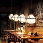 KAWELL Vintage Lustre Plafonnier Lampe Suspension Industrielle Rétro Lumière Pendentif en Métal Abat-jour E27 Base pour Café, Loft, Bar, Restaurant, Étude, Cuisine, Chambre à coucher, Noir de la marque KAWELL image 2 produit