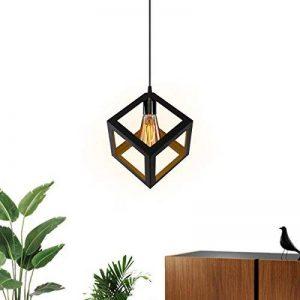 KINGSO E27 Lampe Suspensions Plafonnier Abat-jour Lustre avec Douille Applique d'Eclairage Murale Retro Industriel Noir de la marque KINGSO image 0 produit