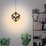 KINGSO E27 Lampe Suspensions Plafonnier Abat-jour Lustre avec Douille Applique d'Eclairage Murale Retro Industriel Noir de la marque KINGSO image 3 produit