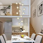 KJLARS Suspensions LED Contemporaine Pendentif Lampe Hauteur Réglable Lustres adapté pour salon table à manger escalier chambre Plafonniers lampe suspendue (14 Lights) de la marque KJLARS image 1 produit