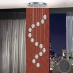 KJLARS Suspensions LED Contemporaine Pendentif Lampe Hauteur Réglable Lustres adapté pour salon table à manger escalier chambre Plafonniers lampe suspendue (14 Lights) de la marque KJLARS image 2 produit