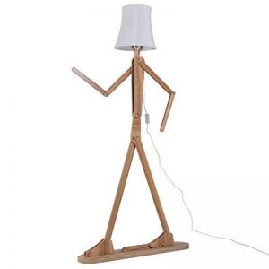 KKG® bois 1.6m originale Ffloor Lampe Standing Room Lumière Variété Modeling Caractère Shade Linen Blanc Moderne Cool for Chambre Salon de la marque KKG image 0 produit