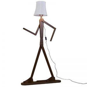 KKG® bois 1.6m originale Ffloor Lampe Standing Room Lumière Variété Modeling Caractère Shade Linen Blanc Moderne Cool for Chambre Salon (Marron foncé) de la marque KKG image 0 produit