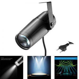 Konesky 3 W Spotlight Projecteur LED Blanc faisceau Pinspot Lumière Lumineux Spot Spectacle DJ Disco Effet Éclairage Lampe de Stade à KTV Bar Club Partie EU Plug de la marque Konesky image 0 produit
