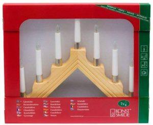 Konstsmide 1041-100 Chandelier Bois Anneaux Déco Métal + 7 Lampes Claires + Câble Blanc 230 V de la marque Konstsmide image 0 produit
