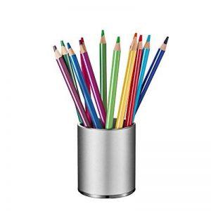 KUNGYO Aluminium Porte-crayon Porte-stylo Avec Tapis Antidérapant Concis Porte-Stylo Pour Le Bureau, La Maison, l'École (Argent) de la marque KUNGYO image 0 produit
